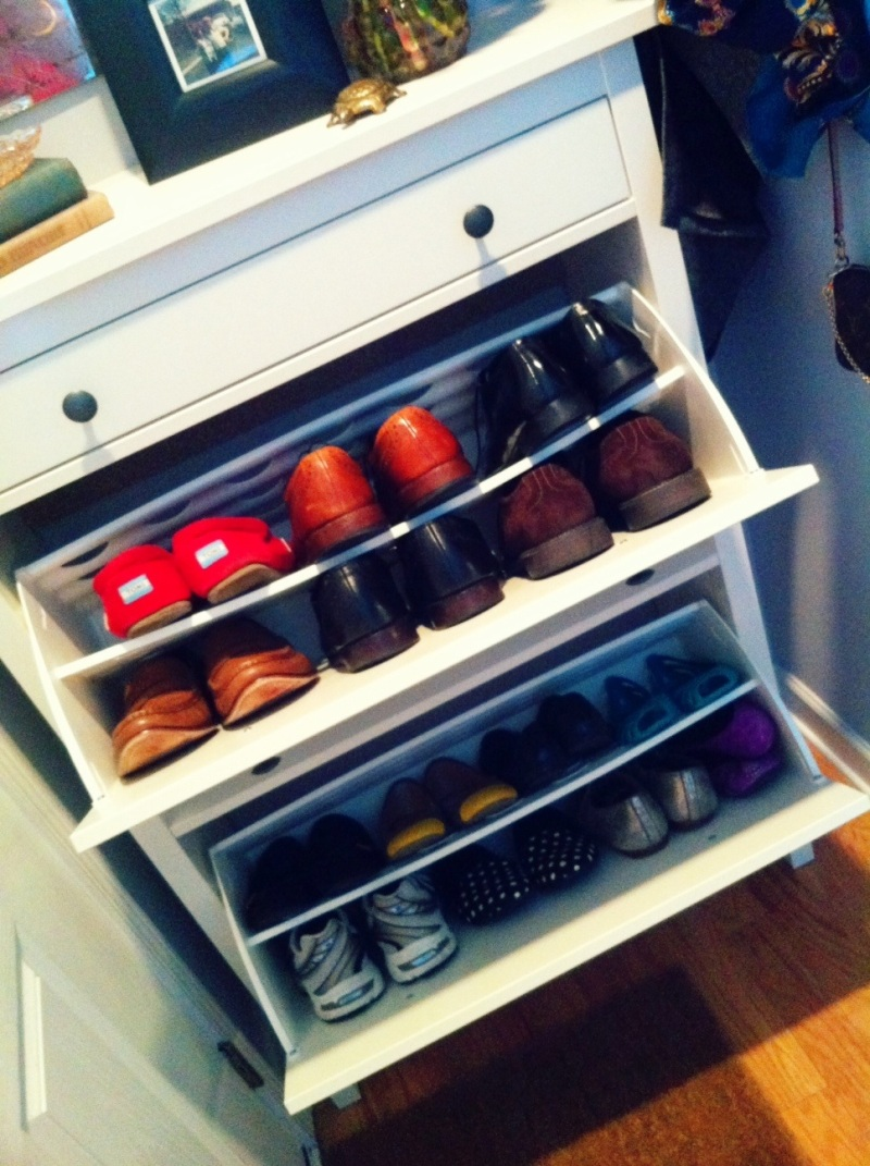 shoe storage design sponge